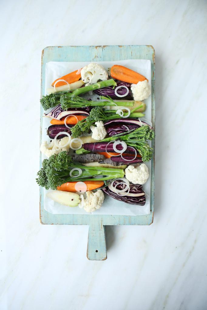 Leisure veg on chopping board