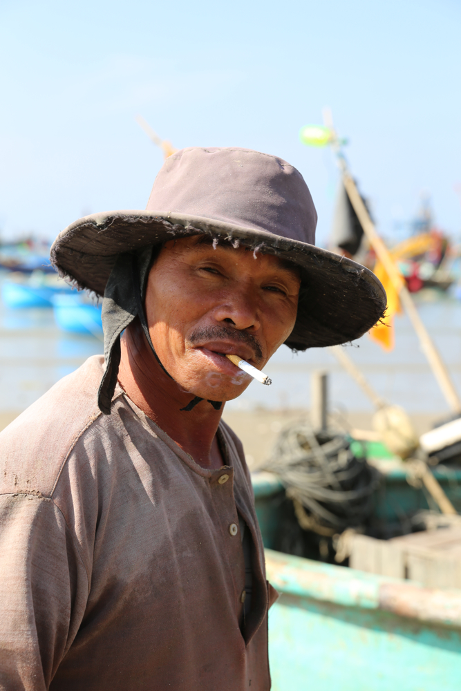 portriat of fisherman Mui Ne By JamesOJenkins